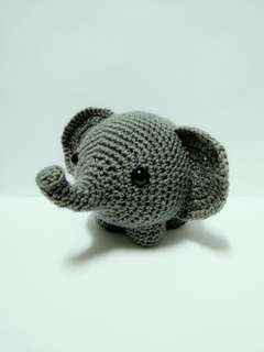 Handmade Crochet Elephant Toy
