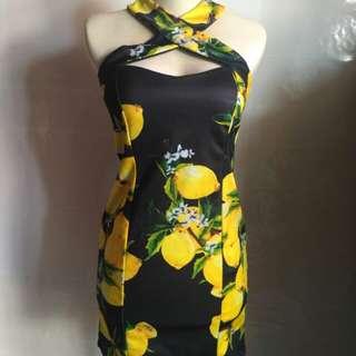 Dresa bunga kuning