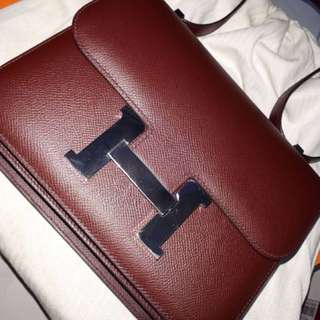 Hermes Bag Coming by payment Like new C24 Bordeaux Epsom Phw #A