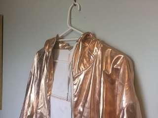 Awesome gold raincoat