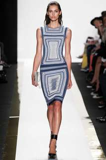 Herve Leger Knitted Emb Dress