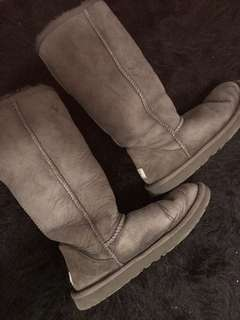 Grey tall UGGS