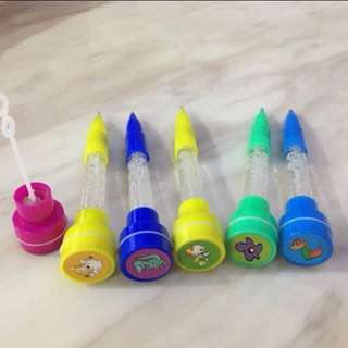 Goody bag item - fancy pen (bubble, stamp, light, pen)