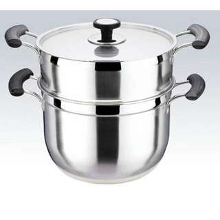 Korean Style 2 Layers Multi-functional Steam Pot