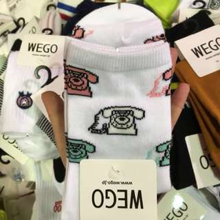 Cute kaos kaki socks wego