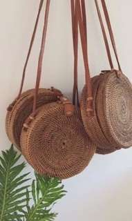 plain rattan bag
