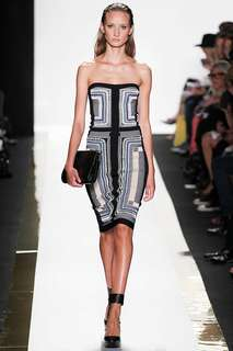 Herve Leger Emb Knitted Dress