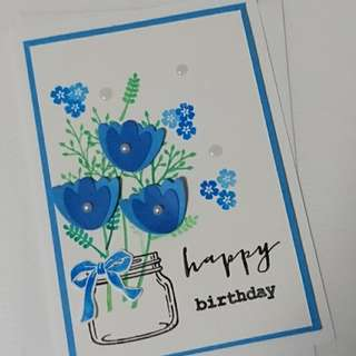Handmade Floral Birthday Card