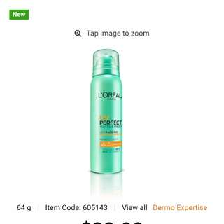 Loreal uv perfect matte and fresh city face mist