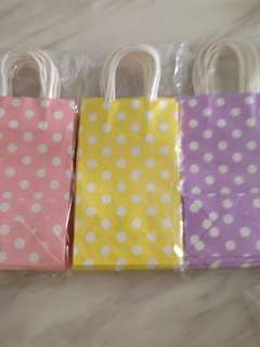Polka dot paper bag
