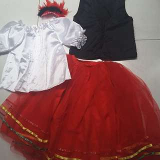 European / Latin America Costume complete set