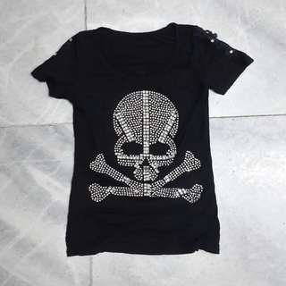 DIAMOND SKELETON BLACK SHIRT