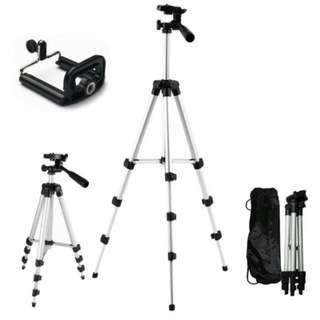 SALE FREE POS Ready Stock Camera DSLR Tripod Extendable 4 Sections FREE Phone Holder