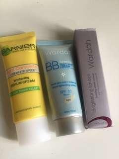 Garnier, BB Cream Wardah & Longlasting Lipstik Wardah