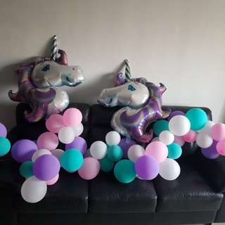 Unicorn theme Balloons