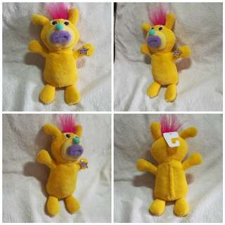 Original Fisher Price Sing A Ma Jigs Plush Stuff Toy - Yellow
