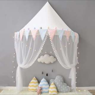 Bella teepee tent bluepink