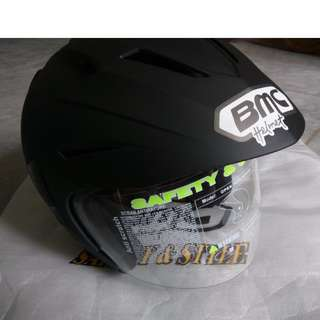 Helm Half Face BMC Fuji-R Hitam Doff