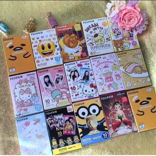 (包郵)各款富士即影即有相紙 !!! 蛋黃哥,TsumTsum,Sanrio,Hello Kitty,冠軍銷量-TsumTsum,亞軍銷量-蛋黃哥,季軍銷量-小黃人黃盒