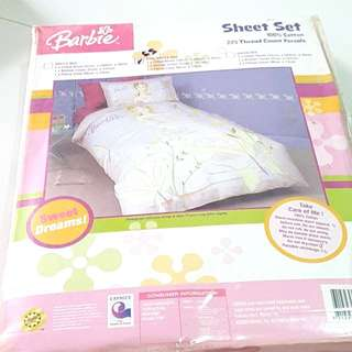 Barbie Bedsheet Set - Super Single