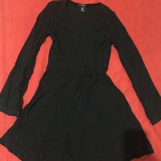 Wrap Up Black Dress By H&M