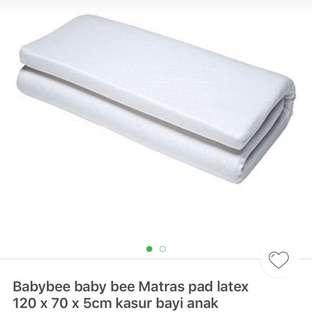 Baby Bee Matras latex kasur lipat bayi 95x65x2,5cm #MakinTebel