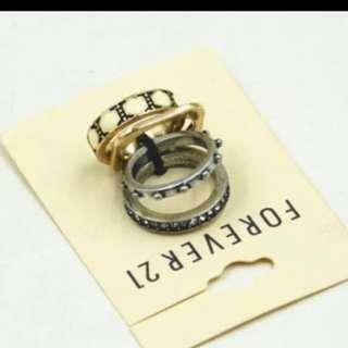 Foverer 21 rings set (size 8)