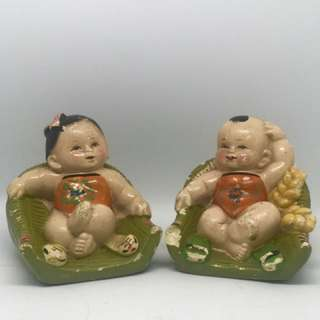 2 Vintage China Figurines