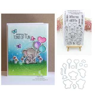 Elephant Card Making Rubber Stamps