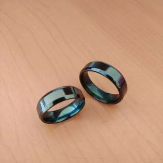 Cincin Couple Titanium Glossy Black TN002