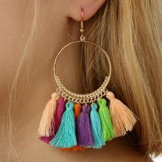<PO> Bohemian Tassel Earrings