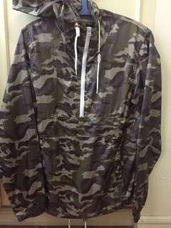 Windbreaker jacket with hoodie