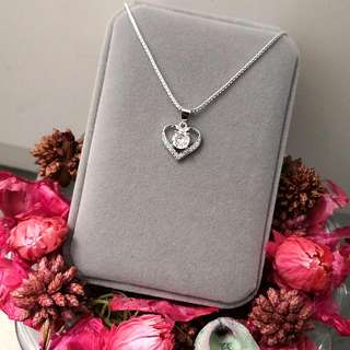 愛的心靈閃亮吊墜頸鏈 Love Heart Shiny Pendant Necklace