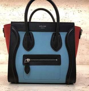 全新Celine 老佛爺百貨限量版 購自2018年1月(有單)(有塵袋)連紙袋,保養咭