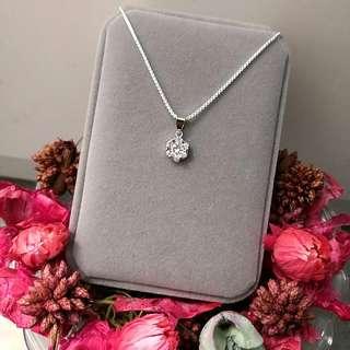 優美冰雪花閃亮吊墜頸鏈 Elegant Ice Snowflake Shiny Pendant Necklace