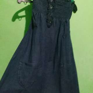 denim dark blue dress