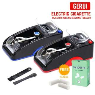 FREE POS Ready Stock GERUI Electric Automatic Cigarette Injector Rolling Machine Tobacco