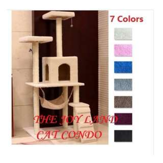 1.5 m Cat Tree House with Hammock