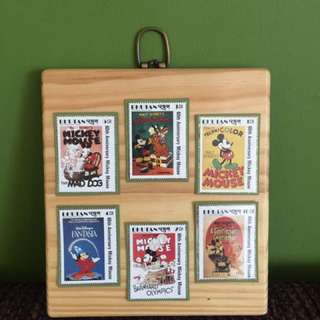 Vintage Stamps Framed
