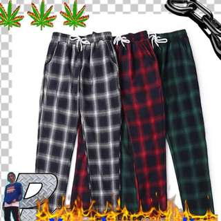 (PO) Korean Checker Fashion Pant