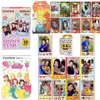 Fujifilm 卡通即影即有相紙 Polaroid Mini instax 我們的香港 star Disney princesses emoji