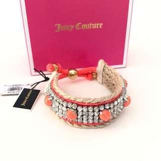 全新 Cute Juicy Couture Coral crystals bangle bracelet~ New with tag and box