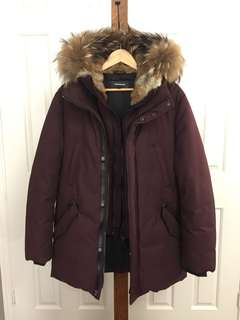 Mackage Edward Coat Size 38 Maroon