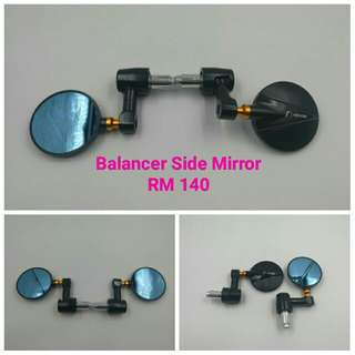 Bar End Solid Side Mirror