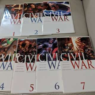 Marvel Civil War Vol. 1 Complete Single Issues Set #1-#7