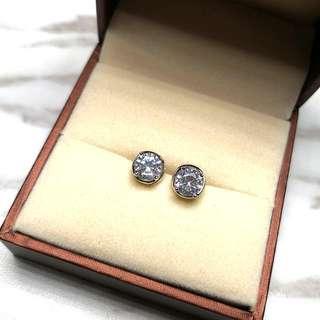 簡約圓形閃亮純銀防敏感耳環 Simple Round Shiny Sterling Silver Sensitive Earrings