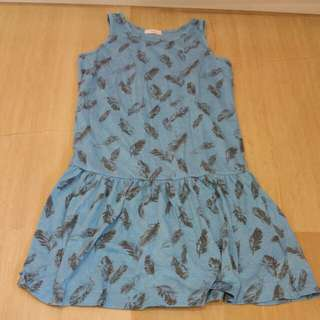 Pre-loved Fox cotton dress for age 10 and above. (Good condition)