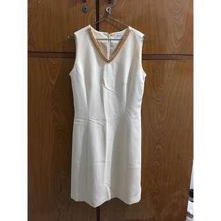 Dress cream mutiara