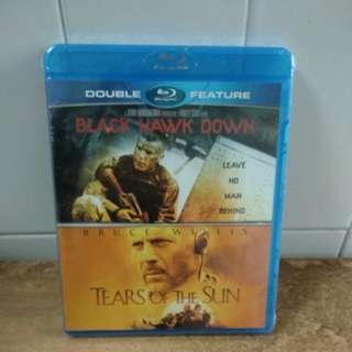 Black Hawk Down & Tears of the Sun - Blu-ray - US import (original) - 2 action - packed movies for only $22