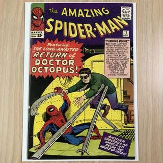 MARVEL COMICS The Amazing Spider-Man #11-2nd Appearance of Doctor Octopus|1st Appearance & Death of Bennett Brant (Serious Buyers Only)